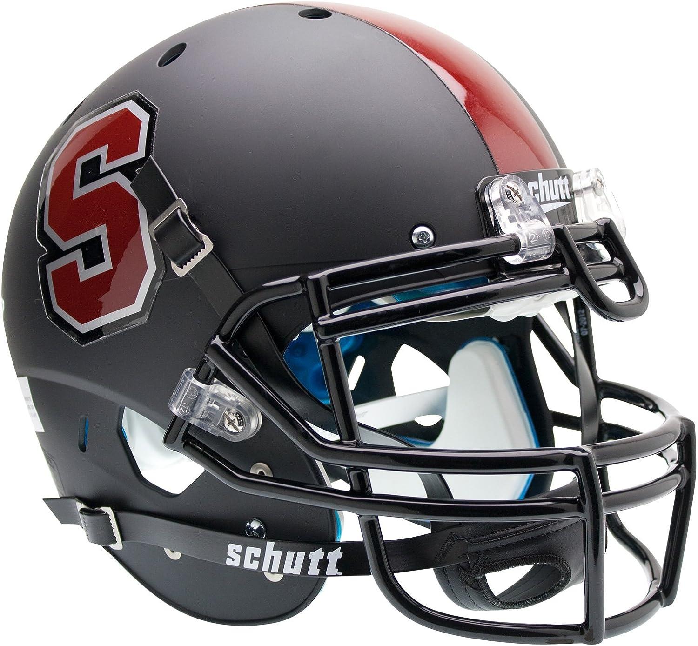 NCAA Stanford Cardinal Authentic XP Football Helmet, Matte Black