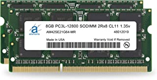 Adamanta 16GB (2x8GB) Apple Memory Upgrade Compatible for iMac, MacBook Pro, Mac Mini DDR3/DDR3L 1600Mhz PC3L-12800 SODIMM 2Rx8 CL11 1.35v RAM