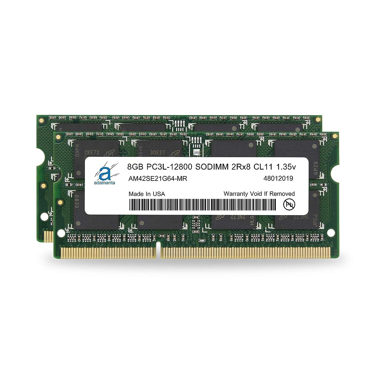 夫婦セール右Adamanta 16?GB ( 2?x 8gb )ノートPCメモリアップグレードfor Lenovo ThinkPad e450?ddr3l 1600?MHz pc3l - 12800?SODIMM 2rx8?cl11?1.35?VノートブックRam Dram
