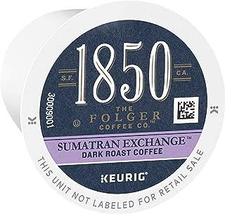 1850 Sumatran Exchange Dark Roast Single Origin Coffee K Cup Pods for Keurig Brewers, 60Count