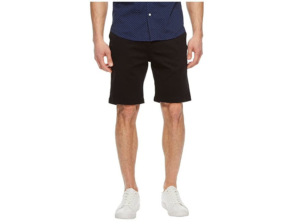Image of 34 Heritage Nevada Shorts in Black Twill (Black) Men's Shorts