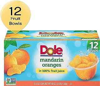 DOLE FRUIT BOWLS Mandarin Oranges in 100% Juice Cups, 12 Count