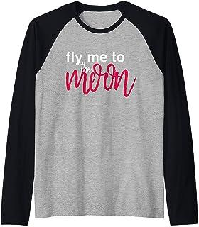 Fly Me to the Moon Raglan Baseball Tee
