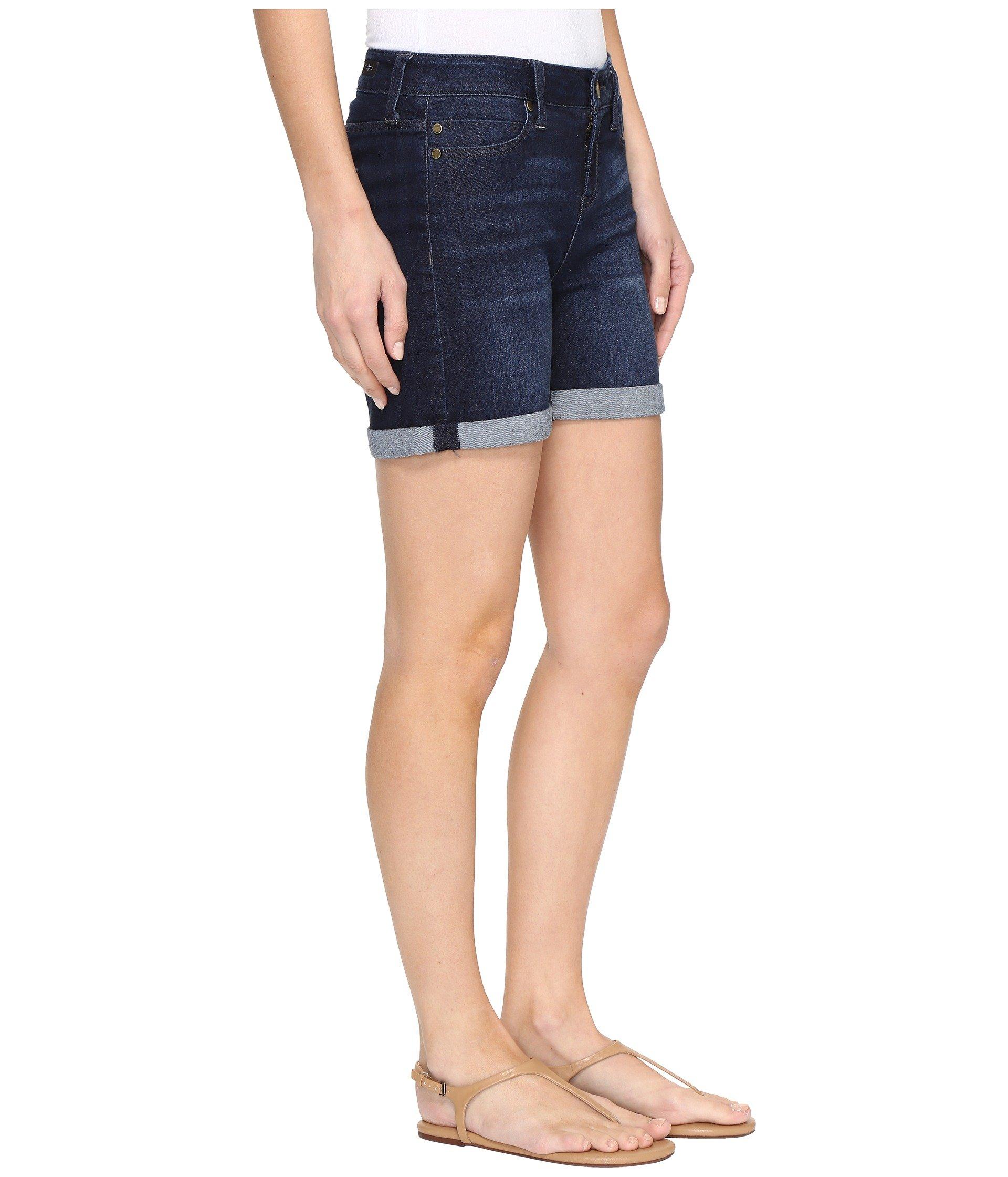 Shorts Dark cuff Rolled Comfort Vickie In Stretch Liverpool Super Vintage Denim qpattZ