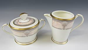 Noritake China PACIFIC MAJESTY Creamer & Sugar Bowl w/Lid EXCELLENT