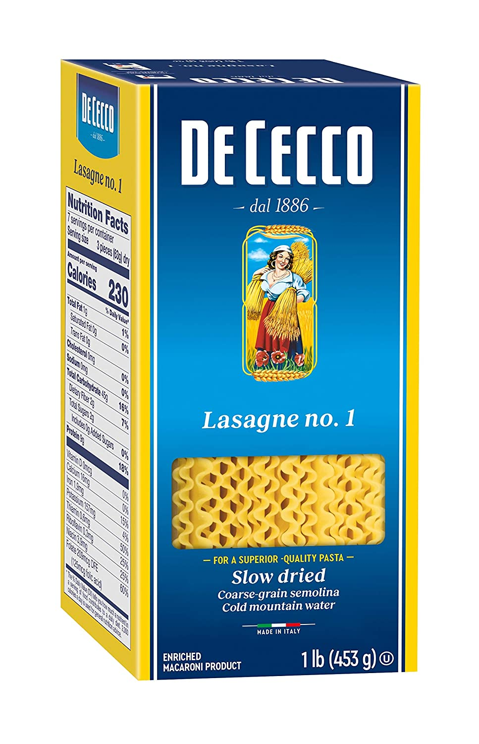 De Cecco Lasagna 16 Ounce Manufacturer direct delivery Los Angeles Mall Boxes Pack of 5
