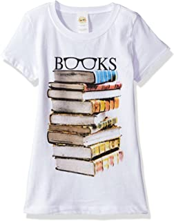 Lost Gods Girls' Book Specs Graphic T-Shirt