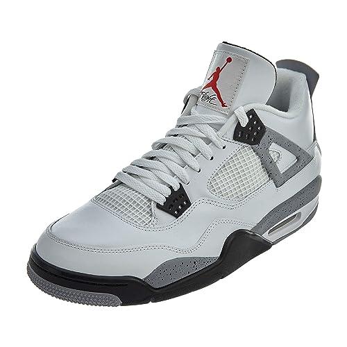 eee65d05c1384d Jordan Air 4 IV Retro Cements Mens Shoes White Black-Cement Grey 308497-