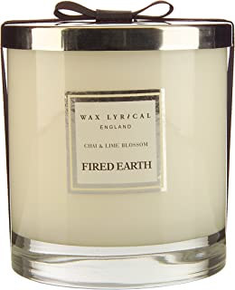 Fired Earth Chai And Lime Blossom Large Candle