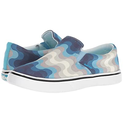 Native Shoes Miles Denim Print (White Wash/Shell White/Surfer Wave) Shoes