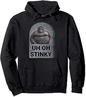 Uh Oh Stinky Poop Meme Tombstone Le Monke Halloween Costume Pullover Hoodie