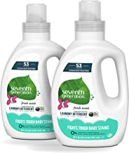 Seventh Generation Concentrated Baby Laundry Detergent, Fresh Scent, 40 oz, Pack of 2 (106 Loads)