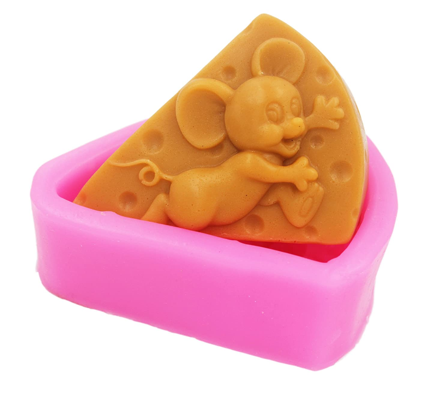 Longzang Mouse Cake Mould S404 Art Silicone Soap Craft DIY Handmade Candle Molds