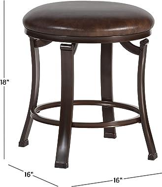 Hillsdale Furniture Hastings Backless Vanity Stool, Antique Brown
