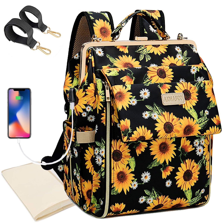 Sunflower Diaper Bag Backpack Waterproof Travel Back Pack Baby Nappy Bags