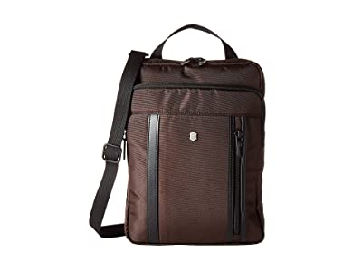 Victorinox Werks Professional 2.0 Crossbody Laptop Bag (Dark Earth) Bags