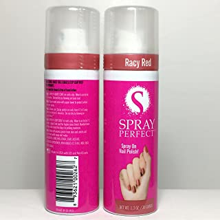 Spray Perfect Spray On Nail Polish, Racy Red, Pack of 2 x 1.3 Fl Oz