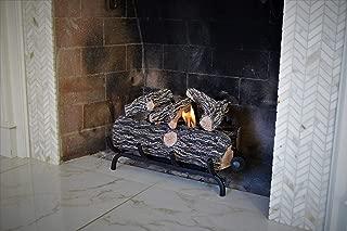 Terra Flame Gel Log Set Fireplace Insert 18 Inch Brown