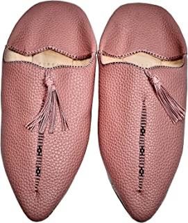 YVES Hamburg Moroccan Babouches Mules Oriental Style Caoutchouc and Leather
