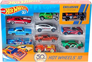 Hot Wheels Amazon 50th Anniversary Vehicles, 10 Pack [Amazon Exclusive]