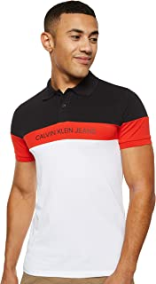 Calvin Klein Jeans Men's Color Block Slim Polo