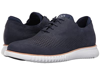 Cole Haan 2.Zerogrand Laser Wing Oxford (Marine Blue Nubuck/Optic White) Men