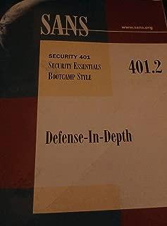SANS Institute 401.2 Defense-In-Depth Security Essentials Bootcamp Style