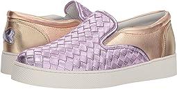 Bottega Veneta Metallic Intrecciato Slip-On Sneaker