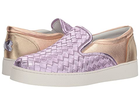 Bottega Veneta Metallic Intrecciato Slip-On Sneaker