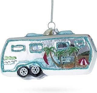 BestPysanky Camper Glass Christmas Ornament