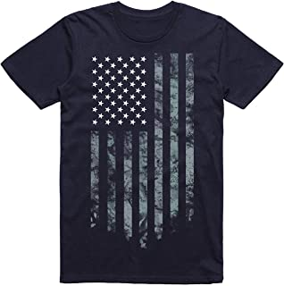 Wishful Inking Dallas Football Fans White & Silver Distressed American Flag T-Shirt