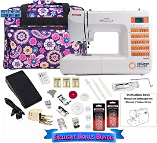 Janome National Pediatric Cancer Foundation NPCF50 Computerized Sewing Machine with Bonus Bundle