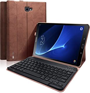 Keyboard Case for Samsung Galaxy Tab A 10.1 Inch SM-T580/T585/T587(2016 NO S Pen Version), Slim Shell Lightweight Stand Cover with Magnetically Detachable Wireless Bluetooth Keyboard
