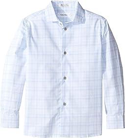Long Sleeve Fine Line Plaid Shirt (Little Kids)