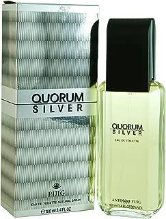Antonio Puig Quorum Silver  Eau De Toilette, 100 milliliters