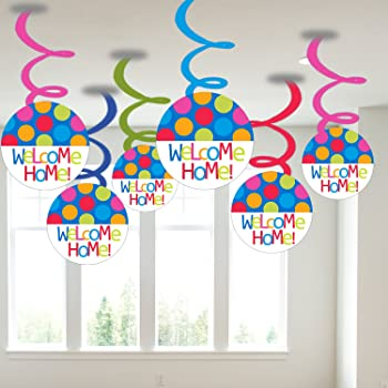 Party Propz Welcome Home Baby Shower Girl Or Boy Of 6 Pieces Swirls Baby Shower