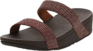 FitFlop Lottie Glitter Stripe Slides womens Sandal