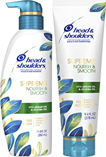 Head & Shoulders Supreme Nourish & Smooth Hair & Scalp Shampoo & Conditioner Bundle, 11.8 Fl Oz