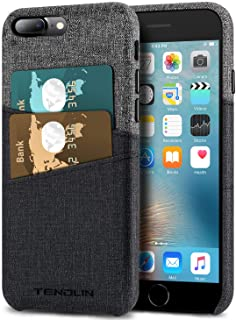 TENDLIN Compatible with iPhone 7 Plus Wallet Case iPhone 8 Plus Wallet Case Good Grip Leather Case with 2 Card Holder Slot...