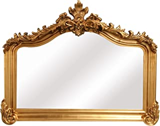 SBC Decor Blenheim Mantle Wall Mirror, Large, Antique Gold