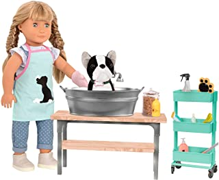 Our Generation by Battat- Dog & Pet Grooming Salon Play Set for 18 Dolls- for Age 3 Years & Up