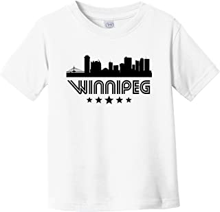 Really Awesome Shirts Winnipeg Manitoba Skyline Retro Style Infant Toddler T-Shirt