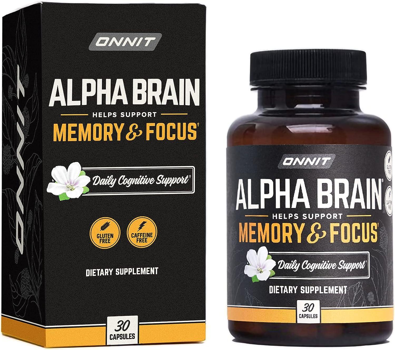 ONNIT Alpha Brain 30ct - Nootropic Max 40% OFF price Supplement Premium