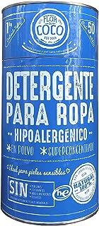 Detergente en polvo para Lavadora. Ecológico. Hipoalergénico. Libre de químicos tóxicos. 50 cargas de lavadora tradicional / 100 cargas HE