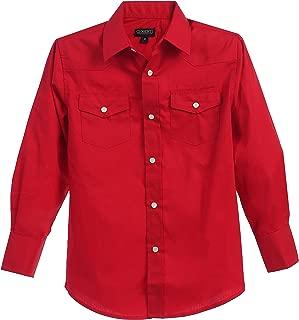 boys red western shirt