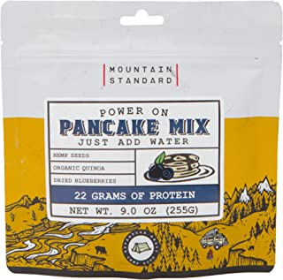 Mountain Standard Foods Power On Pancake Mix with Hemp Seeds, Quinoa & Blueberries, Freeze Dried Food, Just Add Water