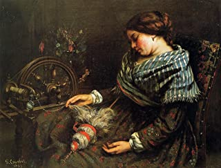 The Sleeping Spinner by Gustave Courbet - 20