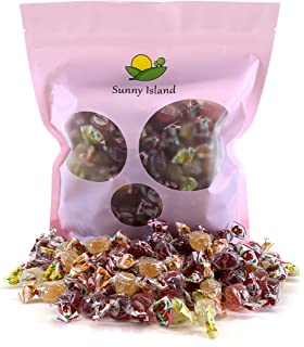 Sunny Island Bulk - Fida Italian Jelly Candy, Bonelle Assorted Fruit Flavored Gluten Free Candy, 2 Pounds Bag