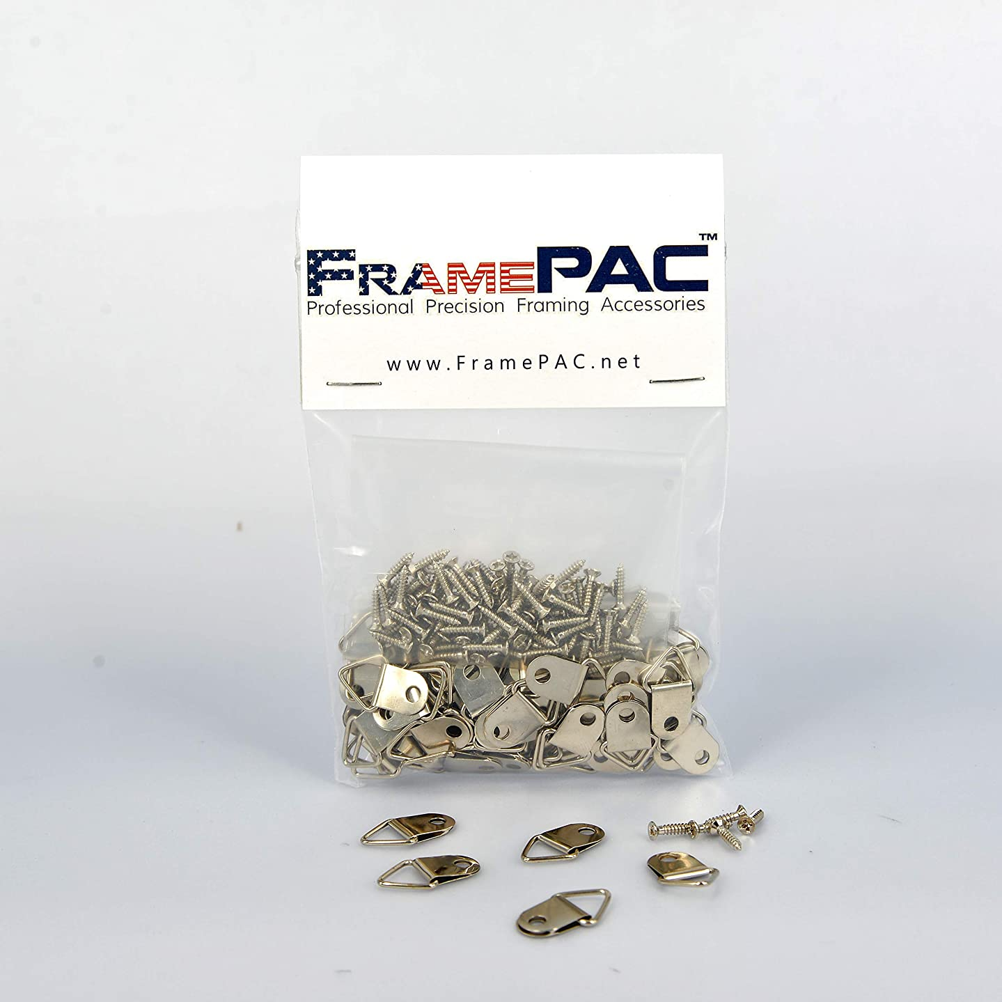 Picture Frames Small Triangle Hangers With Screws (100 Pcs)