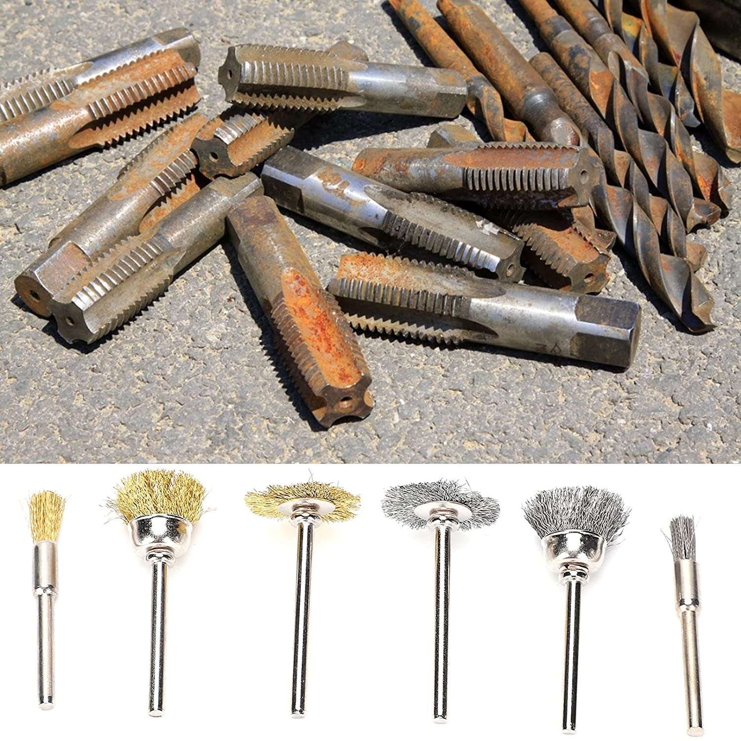 Brass Wire NEW before selling ☆ Wheel Brush Kit Shapes B 3 Latest item True Available